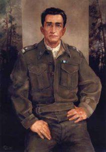"""Gen. Emil Fieldorf """"Nil"""" - obraz olejny Jana Chrz?szcza. Muzeum Armii Krajowej w Krakowie"""